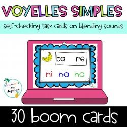 Phonologie Sons voyelles simples Boom Cards Google