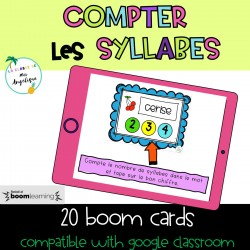 Compter Syllabes BOOM CARDS Google Classroom