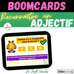Reconnaitre un adjectif Boom cards