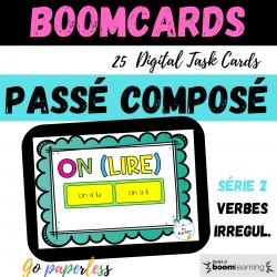 Passé composé 2 vb irreg BOOM CARDS Past tense
