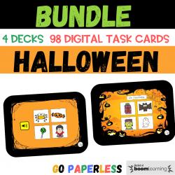 BUNDLE Halloween Vocabulaire BOOM CARDS