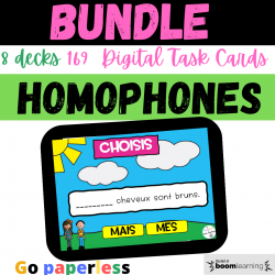 BUNDLE Homophones homonymes BOOM CARDS Ensemble