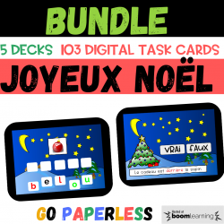 BUNDLE Noël CHRISTMAS BOOM CARDS Distance Learning