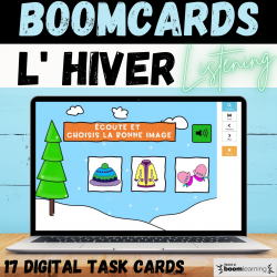 BOOM CARDS L' HIVER Listening Vocabulary