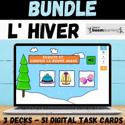 BUNDLE Winter L' hiver BOOM CARDS with audio
