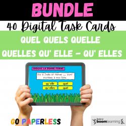 QUEL QUELS ... QU'ELLE ... BOOM CARDS
