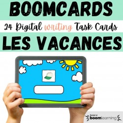 BOOM CARDS Vacances FLE | Holidays Spelling #5
