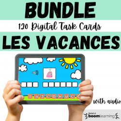 BUNDLE Ensemble BOOM CARDS Vacances | Holidays FSL