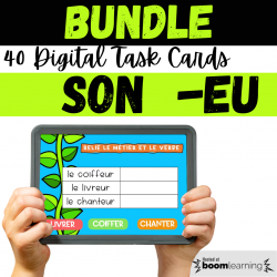 BUNDLE French BOOM CARDS Son EU Lecture CP