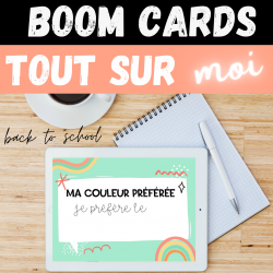 Boom Cards TOUT SUR MOI Back to school