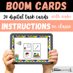BOOM CARDS audio CLASSROOM INSTRUCTIONS Consignes