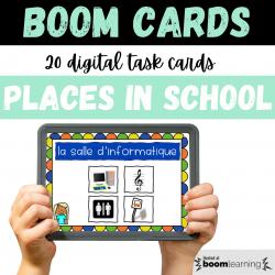 BOOM CARDS Endroits École Places School Set 2