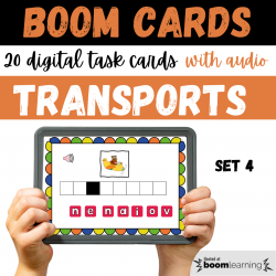 BOOM CARDS Les Transports Set 4  Writing