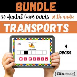 BUNDLE French BOOM CARDS Les Transports avec Audio