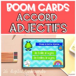 Accord adjectifs BOOM CARDS Google Classroom