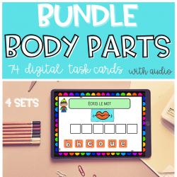 BUNDLE BOOM CARDS Body Parts Parties du corps