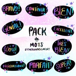 Pack de MOTS D'ENCOURAGEMENT! (10 + 1 bonus!)