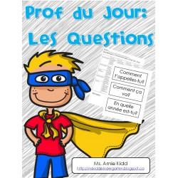 Prof du Jour: les questions