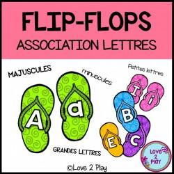 Flip-flops - Association lettres - Préscolaire