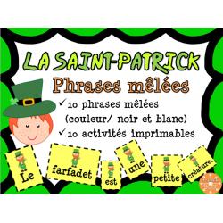 La Saint-Patrick - phrases mêlées