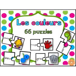 Les couleurs - 66 puzzles