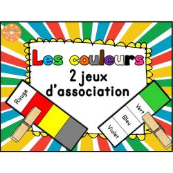 Les couleurs - jeux d'association