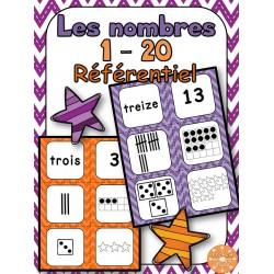Les nombres 1-20 - Référentiel