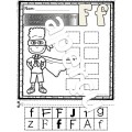 L'alphabet - Découpe et colle