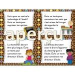 100 cartes à tâches pour le centre d'écriture