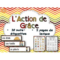 L'Action de Grâce - mur de mots et lexique