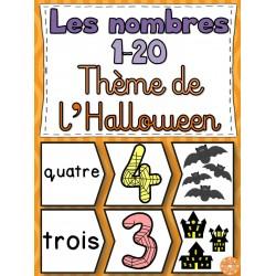 Nombres 1-20 - Puzzles (Halloween)