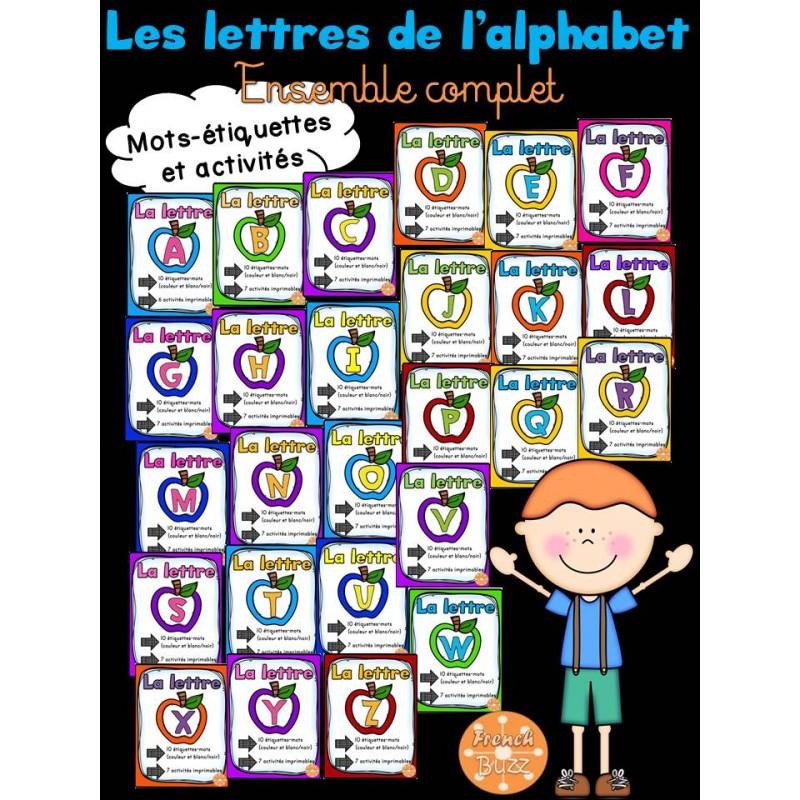 Les lettres de l 39 alphabet ensemble complet - Alphabet complet ...