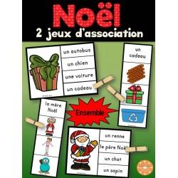 Noël - Ensemble 2 jeux d'association