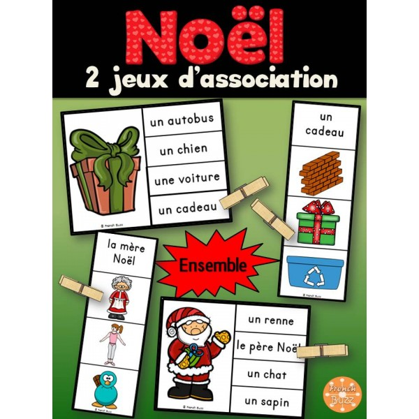 Noël - Ensemble 2 jeux d'association
