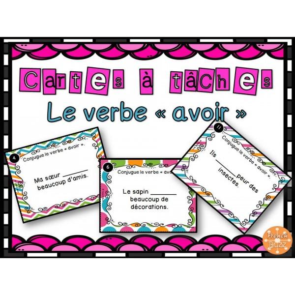 Le verbe avoir - Cartes à tâches