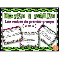 Les verbes du 1er groupe (er) - Cartes à tâches