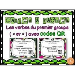 Verbes 1er groupe - Cartes à tâches - Codes QR