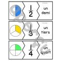 Les fractions - 47 puzzles