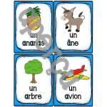 """Le son """"a"""" - 40 cartes de vocabulaire"""