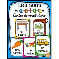 Les sons a-e-i-o-u - Cartes de vocabulaire