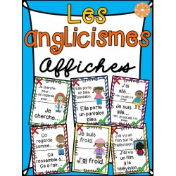 Les anglicismes - Affiches