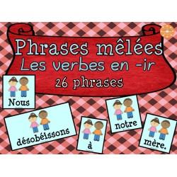 "Les verbes en ""-ir"" - phrases mêlées"