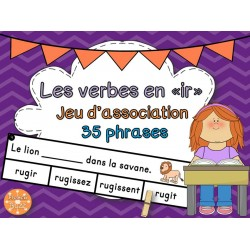 "Les verbes en ""-ir"" - jeu d'association"