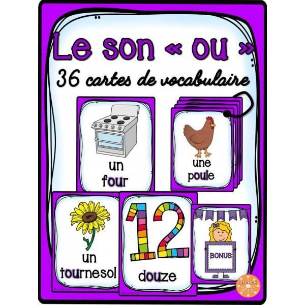 """Le son """"ou"""" - 36 cartes de vocabulaire"""