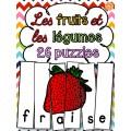 Les fruits et légumes - 26 puzzles