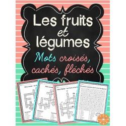 Les fruits et légumes - Mots croisés