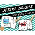 Lettres initiales - choisis la bonne lettre