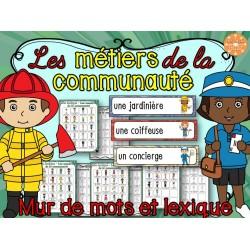 Métiers de la communauté - vocabulaire