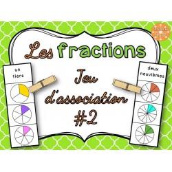 Les fractions - jeu d'association #2