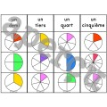 Les fractions - Ensemble 2 jeux d'association